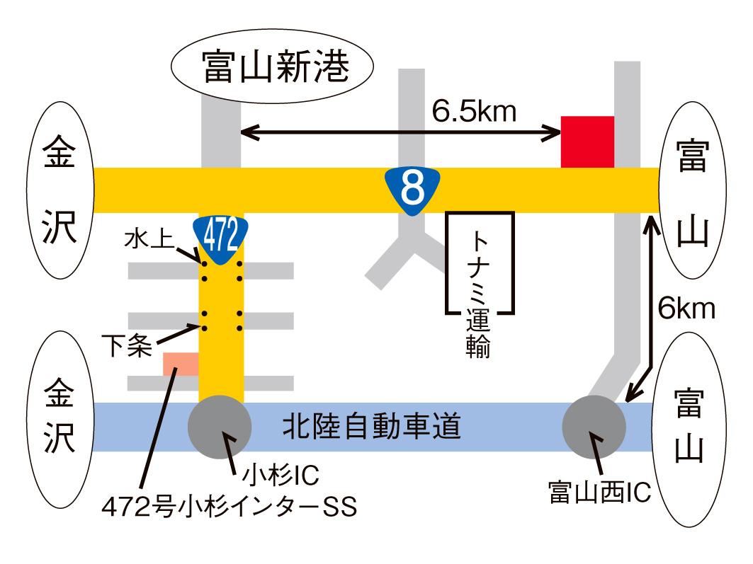8号富山バイパス 呉羽