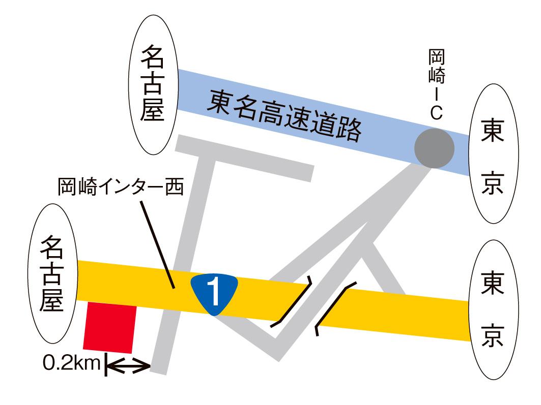1号岡崎インター